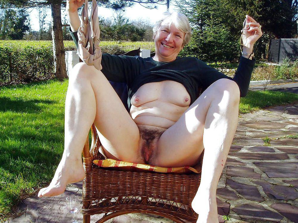 Older women naked outside